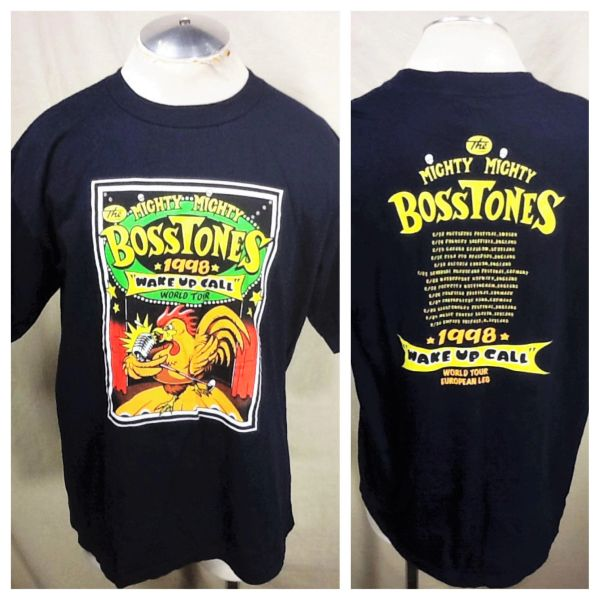 "Vintage 1998 The Mighty Mighty Bosstones (XL) ""Wake Up Call"" World Tour Graphic Band T-Shirt"