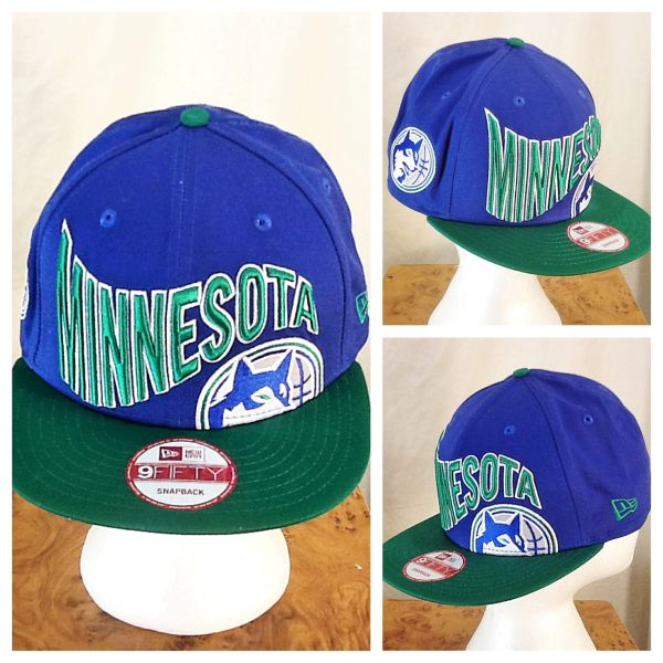 New Era 9Fifty Minnesota Timberwolves NBA Basketball Retro Wolves Snap Back Hat