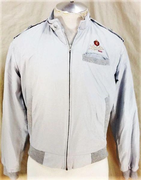 Vintage 1980's Stroh's Beer (Small) Retro Breweriana Zip Up Long Sleeve Jacket