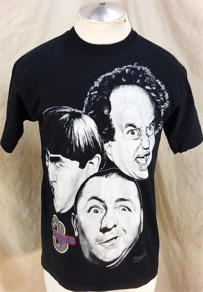 Vintage 1994 The Three Stooges (Med) Retro Curly, Larry & Moe Graphic T-Shirt