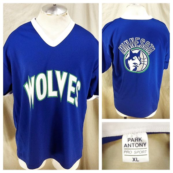 Vintage 90's Minnesota Timberwolves Promo (XL) Retro Wolves NBA Basketball Shooting Jersey