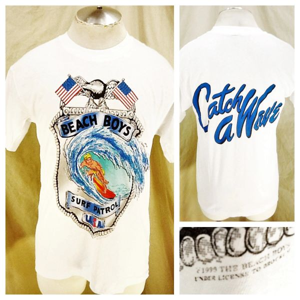 "Vintage 1990 The Beach Boys ""Surf Patrol USA"" (Large) Retro ""Catch A Wave"" Single Stitch Concert Band Shirt"