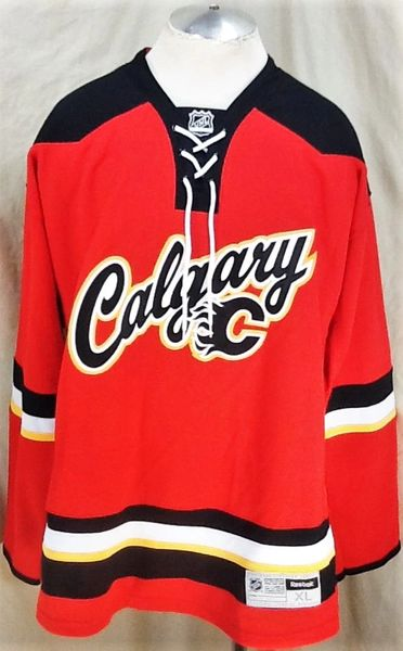 huge discount 05ba1 9337b Reebok Calgary Flames (XL) Pullover NHL Hockey Officially Licenesed Jersey