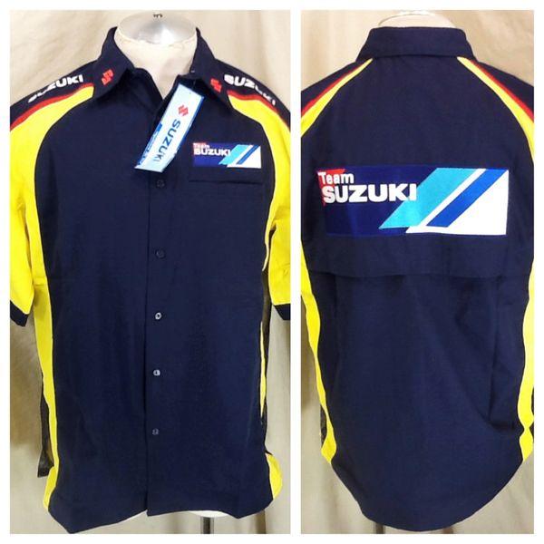 New!! Team Suzuki Motor Works (Large) Button Up Work Shop Shirt