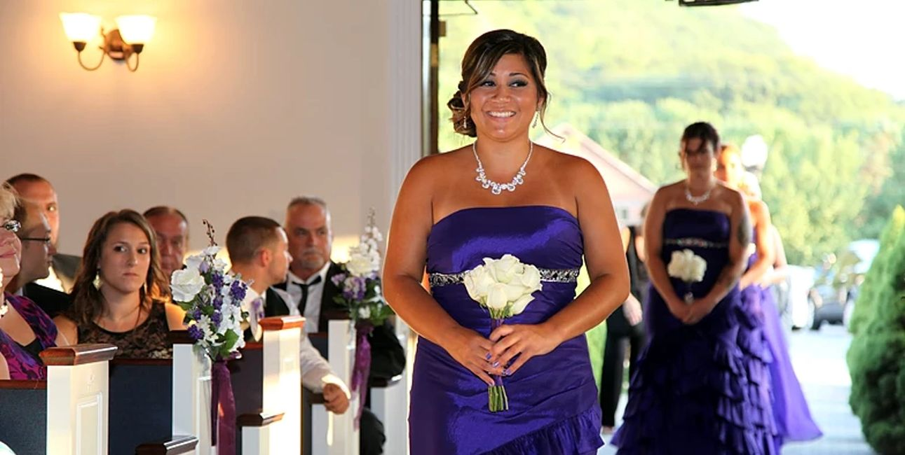 Showtime Cincinnati Wedding Ceremony Wedding Party Processional