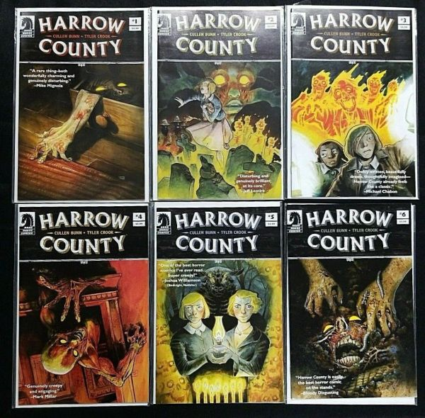 HARROW COUNTY #1 2 3 4 5 6 (DARK HORSE) HOT HORROR COMIC LOT!