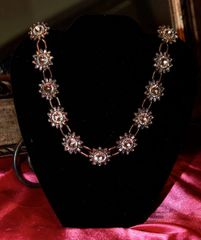Vintage Sunflower Crystal High Quality Necklace