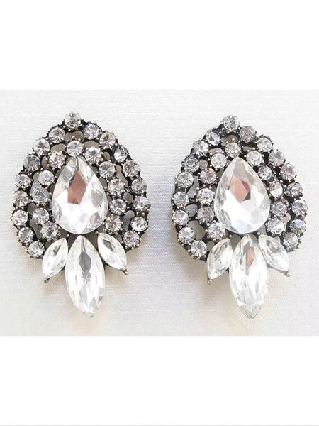 Crystal Post Bridal Earrings