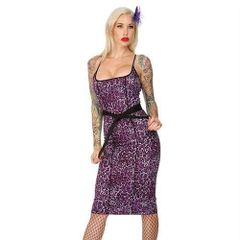 Voodoo Vixen Purple Leopard Sexy Dress Size Medium