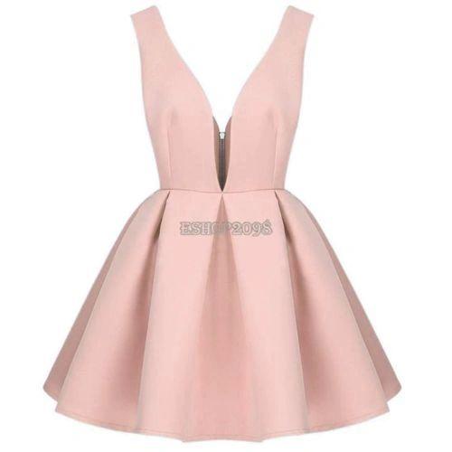 V-neck Short Party Dress