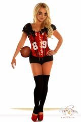 "2 PC Sexy ""Football Fantasy"" Costume"