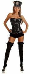 3 PC Sequin Cop Costume