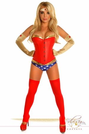 "4 PC Sexy ""Sexy Superhero"" Costume"