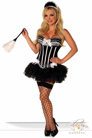 4 PC Sexy French Maid Costume