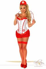 4 PC Sexy Nurse Costume