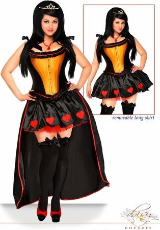 "5 PC Sexy ""Heart Queen"" Costume"