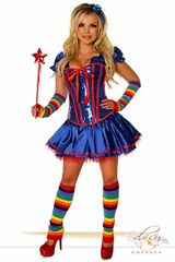 "6 PC Sexy ""Rainbow Girl"" Costume"