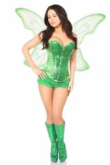 Top Drawer 3 PC Green Fairy Corset Costume