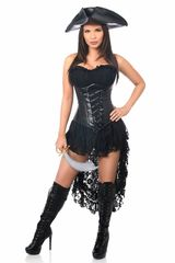 Top Drawer 4 PC Black Pirate Captain Costume