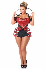 Top Drawer 6 PC Royal Red Queen Corset Costume