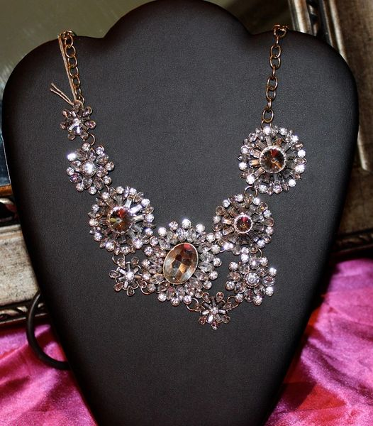 Handmade Vintage Style High Quality Crystal Necklace