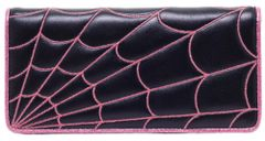 SOURPUSS SPIDERWEB WALLET PINK ASSORTED