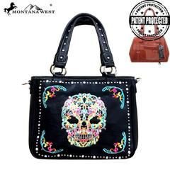 Montana West Sugar Skull Concealed Handgun Collection Handbag/Crossbody