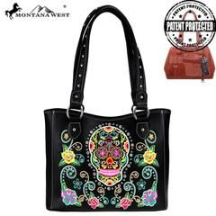 Montana West Sugar Skull Collection Concealed Carry Tote