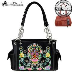 Montana West Sugar Skull Collection Satchel