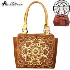 Montana West Aztec Collection Concealed Carry Trapezoid Tote