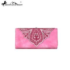 Montana West Embroidered Collection Wallet
