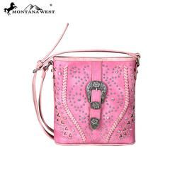Montana West Buckle Collection Crossbody Bag