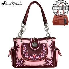 Montana West Concho Collection Concealed Carry Satchel Bag