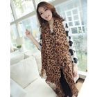 Long Leopard Fashion Scarf