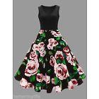 Blk&Pnk Rose Pin-up Dress