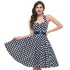 BLK&WHT Pin-up Dress Small Print Checkered