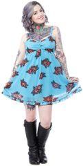 Sourpuss Aqua Roses Dress