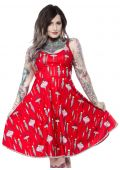 SOURPUSS VINTAGE ORNAMENTS SWING DRESS
