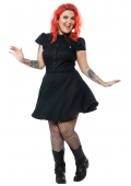SOURPUSS CHECK DRESS HUNTER GREEN