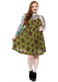 SOURPUSS HEARTS AND ROSES DOLLY DRESS