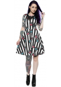 SOURPUSS X-RAY MESH V NECK DRESS