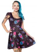 SOURPUSS ICE CREEP CONES SKATER DRESS