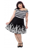 SOURPUSS TENTACLES SKATER SKIRT
