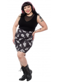 SOURPUSS NO BONES ABOUT IT MINI SKIRT