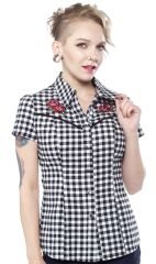 SOURPUSS WESTERN TATTOO ROSES TOP