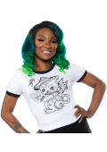 SOURPUSS CREEP HEART RINGER TEE