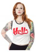 SOURPUSS HELL CROPPED RINGER TANK
