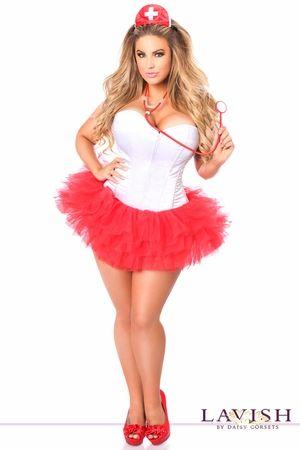 Lavish Flirty Nurse Corset Costume