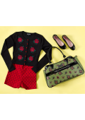 SOURPUSS HEARTS & ROSES CAMILLE PURSE