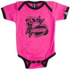 SOURPUSS MOMMY HEART ONE PIECE PINK
